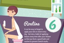 ~Healing Stretch Marks~ / See our infographic below with our top 11 tips for avoiding, preventing and treating stretch marks especially when you are pregnant.