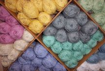 Spring & Summer Yarns / A selection of our knitting yarns for the Spring & Summer - mostly cottons ...................