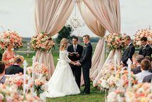 Outdoor Weddings / Gorgeous Wedding Ceremony Inspiration