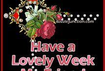 lovely week   :krásny týždeň