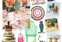 Wedding theme: Fiesta / Create your own fiesta with traditional bunting, punchy zigzags and potted cactus plants.
