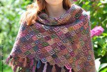 tricot technique domino knitting  entrelac / domino , entrelac