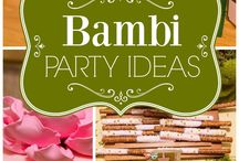 Bambi party ideas/6years old girl