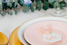 Romantic pastel wedding stationery
