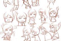 dibujos bocetos kawaii