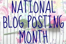 National Blog Posting Month 2017