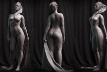 Digital_Sculpting / All about anatomy, gesture and drapery. Digital masters