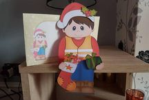 Christmas on the shelf cards / All Christmas designs on this board