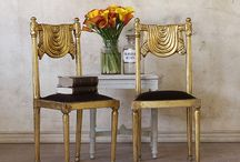 Pair of Fancy Vintage Gilt Side Chairs