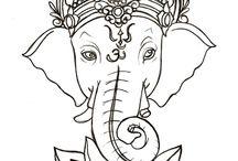 Elefant ryggtavla