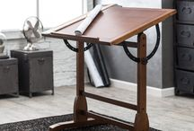 Studio Designs Rustic Industrial Furniture / This is furniture and accessories that have a simple design and raw finishes. #StudioDesigns