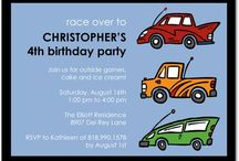 Race Car Party Invitations