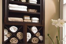 bathroom shelving / by Kathryn Gorsha