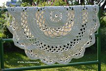 Crochet doily rugs