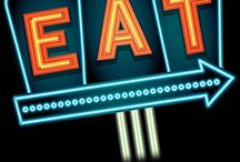 Neon retro signs / Collection of retro neon retro designs available in vector format here http://www.istockphoto.com/search/lightbox/15120334#1963fea3