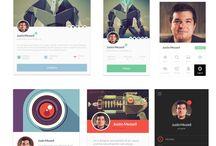 Profile UI / Profile UI on mobile and website