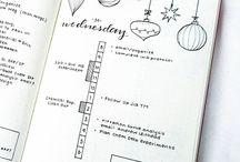 Bullet journal Kerst