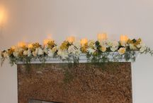 Wedding Fireplace decor
