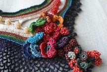 украшение вязание + бисер