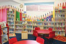 Biblioteca escolar, decoración. / Animación