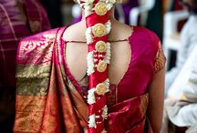 Wedding Style / Wedding Hair, Makeup, Flowers, Garlands, Jewelry, Saris