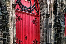 Doors / as beautiful works of art...what lies behind it is always a mystery / by Amy Winter Spann