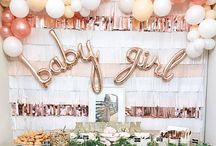gold and pink babyshower