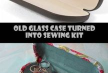 Glasses case , sewing kit