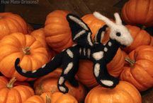 Halloween stuff / Handmade things about Halloween: pumpkins, black cats, bats, spiders, ghosts and so on.
