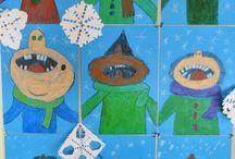 Kunst Schule Winter