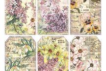 Lovely image to print / Vintage printable backgrounds and tags