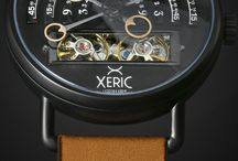 Xeric Halograph Automatic / The HALOGRAPH Automatic lives on mechanical energy. It's not an electronic gadget: it's a mechanical heirloom. It doesn't need batteries or updates to do its work while summoning compliments and sparking conversation everywhere you go. All it needs is YOU! Like the chambers of a beating mechanical heart, the twin balance wheels pump life into this complex time machine. Seeing the action of a living machine on your wrist gives a thrill no electronic gadget can.