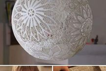 projects for home decor using lace