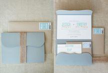 Flap Fold Invitations / Invitations