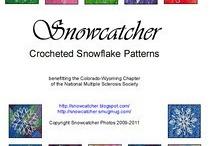 crochet snowflakes flowers etc