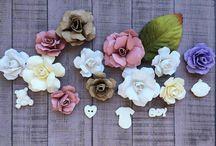 мк цветы для скрапа
