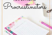 Lifestyle || Productivity/Procrastination