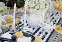black and white and yellow outdoor setting