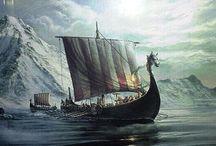 079 Vikings / Norseman at Sea