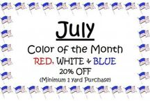 Color of the Month / Each month Hoppin Bobbin offers discounts off certain colors. Stop in today and stock up