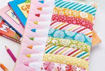 C R A F T I N G: Fabric scrap projects
