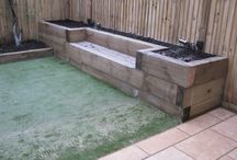 garden ideas with sleepers and wood