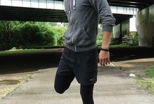 Men's Athletic Wear / Fashion at the gym.