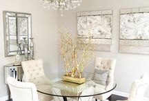 Tracey's New Gold Dining Room