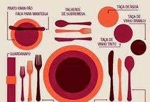 Arrumando a mesa de jantar