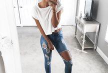 Tynne jeans