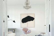 Sort og hvit ny stil stue
