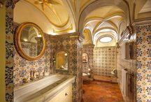 Bagno preziosi / Decorazioni su Ceramica ,vetro con lustri ORO/PLATINO DELUX. Finiture con SWAROVSKI ORIGINALI
