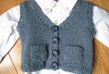 knitted boys waistcoat
