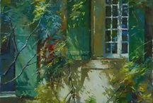 Gardens ~ beautiful secret gardens paintings